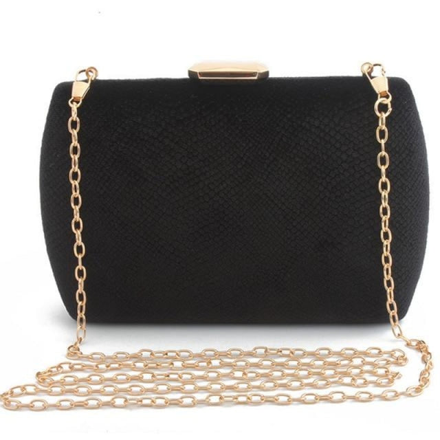 Fashion Suede Clutches Clain Wedding Handbags | Bridelily - black / Mini(Max Length<20cm) - wedding handbags
