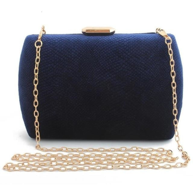 Fashion Suede Clutches Clain Wedding Handbags | Bridelily - blue / Mini(Max Length<20cm) - wedding handbags