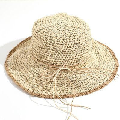 Fashion Sun Wide Brim Foldable Bowknot Straw Hats | Bridelily - floppy hats