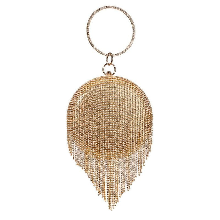 Fashion Tassel Rhinestones Wedding Handbags | Bridelily - YM8210gold - wedding handbags