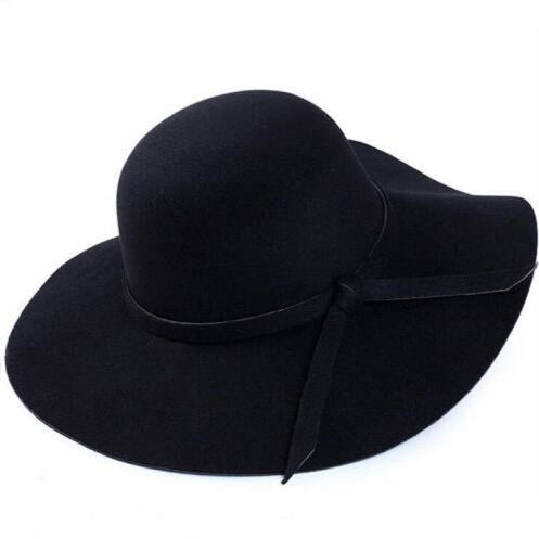 Fashion Wide Brim Felt Bowknot bowler/cloche hats | Bridelily - Black - bowler/cloche hats