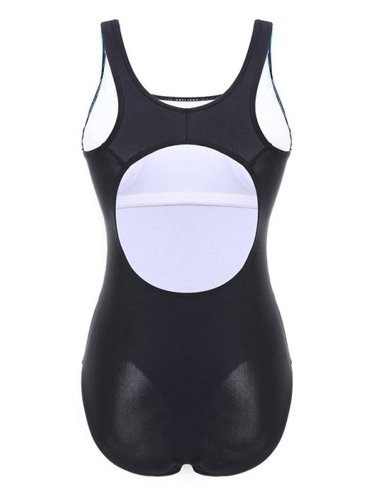 Figure Flattering Back Hollow One Piece Sport Swimsuit Swimwear For Women - Plus Size One Piece