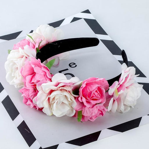 Floral Garlands Hoop Flower Girl Accessories | Bridelily - flower girl accessories