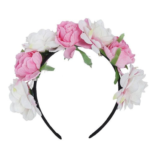 Floral Garlands Hoop Flower Girl Accessories | Bridelily - pink - flower girl accessories