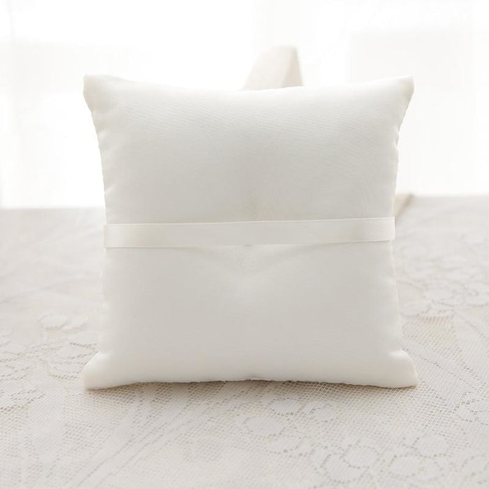 Flower Decorated Wedding Ceremony Ring Pillows | Bridelily - ring pillows