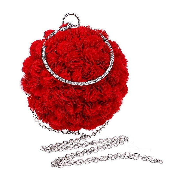 Flower Handmade Bag Cirular Shaped Wedding Handbags | Bridelily - wedding handbags