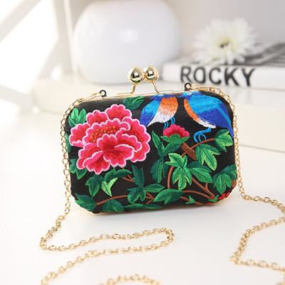 Flower Vintage National Chains Wedding Handbags | Bridelily - design 3 / Mini Size - wedding handbags