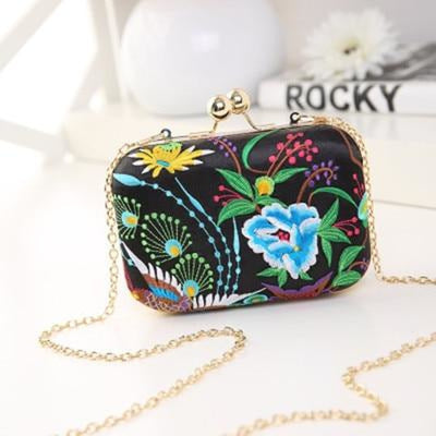 Flower Vintage National Chains Wedding Handbags | Bridelily - design 4 / Mini Size - wedding handbags