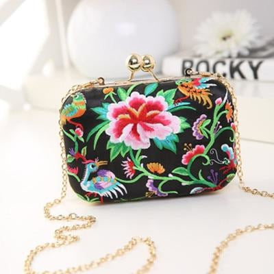Flower Vintage National Chains Wedding Handbags | Bridelily - design 5 / Mini Size - wedding handbags