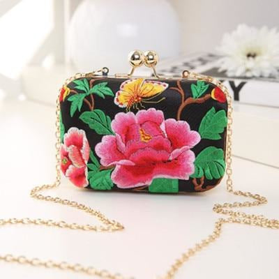 Flower Vintage National Chains Wedding Handbags | Bridelily - design 1 / Mini Size - wedding handbags
