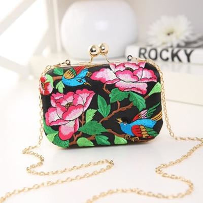 Flower Vintage National Chains Wedding Handbags | Bridelily - design 6 / Mini Size - wedding handbags