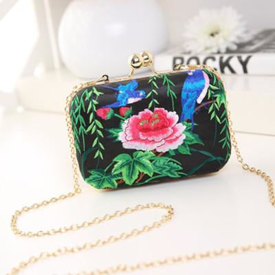 Flower Vintage National Chains Wedding Handbags | Bridelily - design 2 / Mini Size - wedding handbags