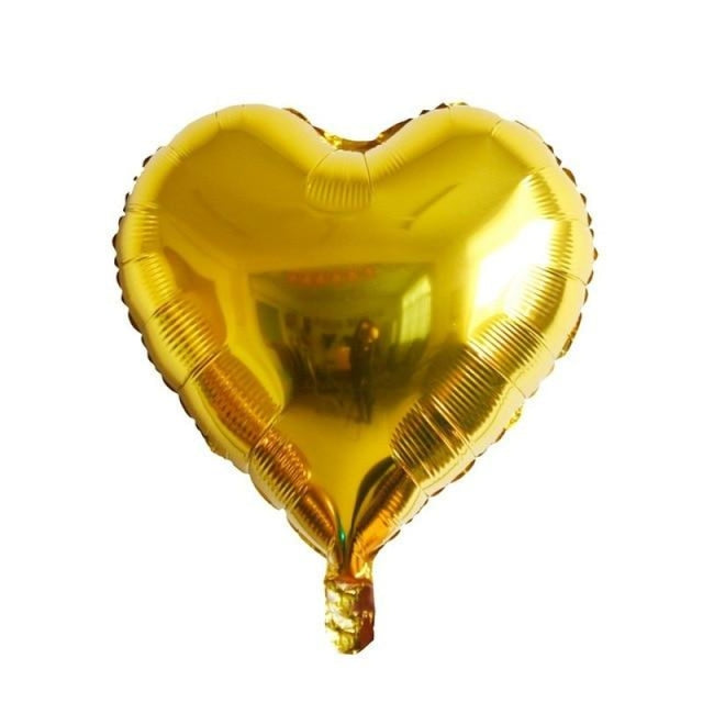 Foil Heart Balloon Wedding Decorations (5pcs) | Bridelily - Gold heart - wedding decorations
