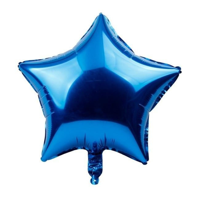 Foil Heart Balloon Wedding Decorations (5pcs) | Bridelily - Royal blue star - wedding decorations