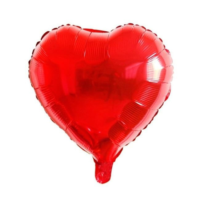 Foil Heart Balloon Wedding Decorations (5pcs) | Bridelily - Red heart - wedding decorations