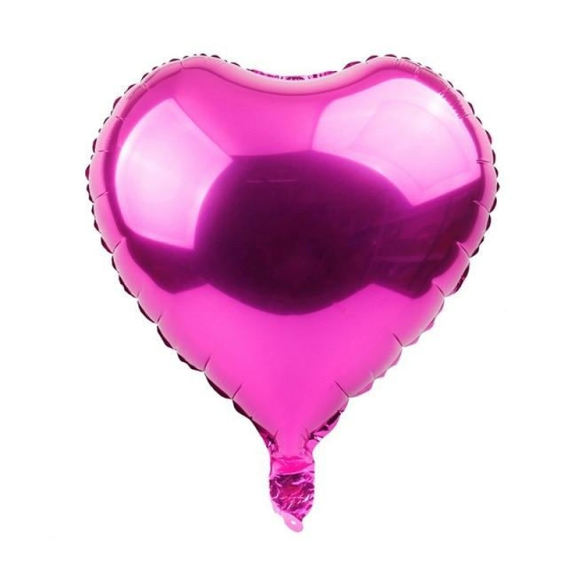Foil Heart Balloon Wedding Decorations (5pcs) | Bridelily - Rose pink heart - wedding decorations