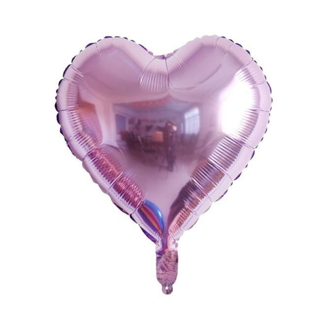 Foil Heart Balloon Wedding Decorations (5pcs) | Bridelily - Light purple heart - wedding decorations