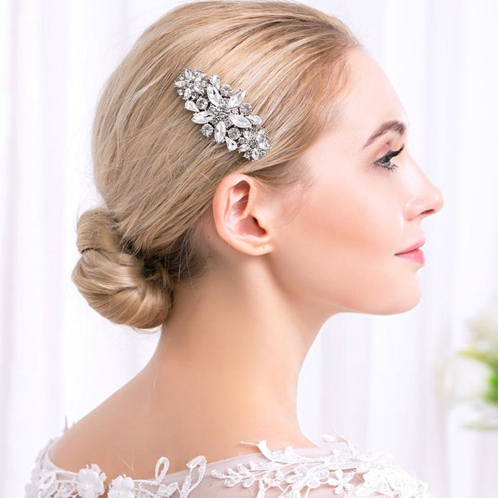 Full Crystal Rhinestone Fashion Womens Combs & Barrettes | Bridelily - combs and barrettes