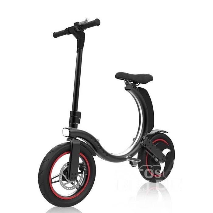 Full Folding Electric Bike 14 inch Big Wheel Electric Bicycle with Disc Brake and Electronic Brake 35km/h Max Speed Mini E-bike