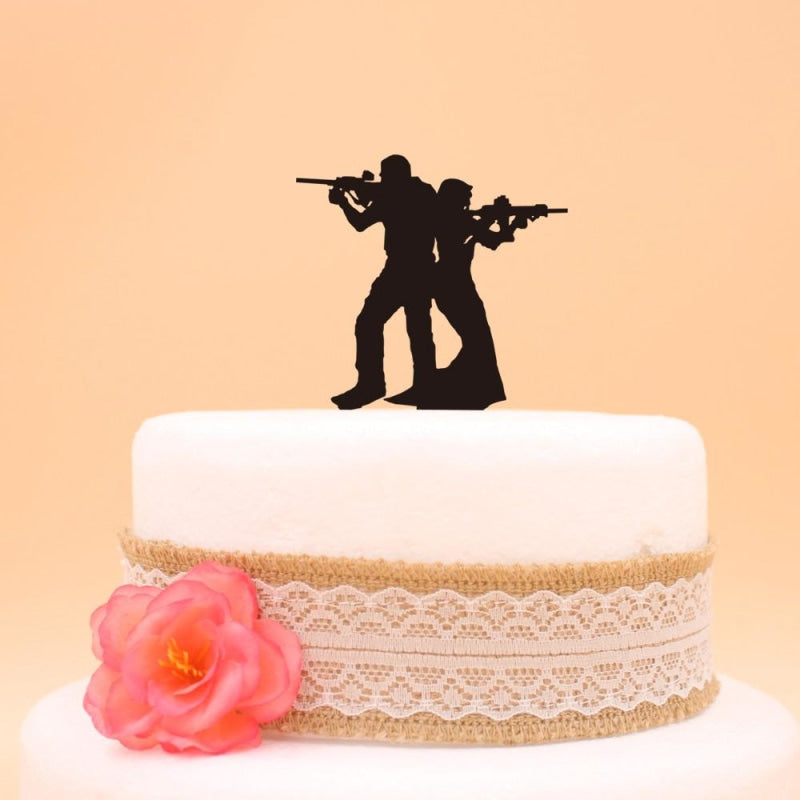 Funny Soldier Bride Groom Wedding Cake Toppers | Bridelily - cake toppers