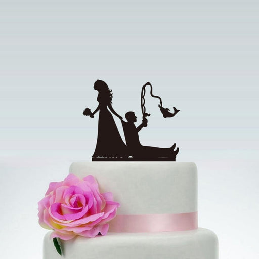 Funny Wedding Fishing Style Cake Toppers | Bridelily - cake toppers