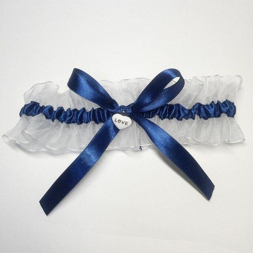 Girl Heart Lace Bowknot Wedding Garters | Bridelily - color 1 - garters