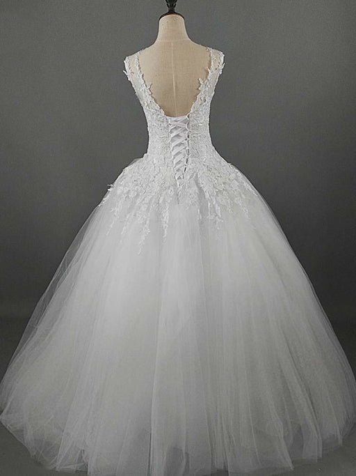 Glamorous Lace Ball Gown Tulle Wedding Dresses - wedding dresses