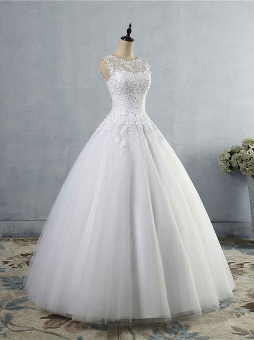 Glamorous Tulle Lace Ball Gown Wedding Dresses - wedding dresses
