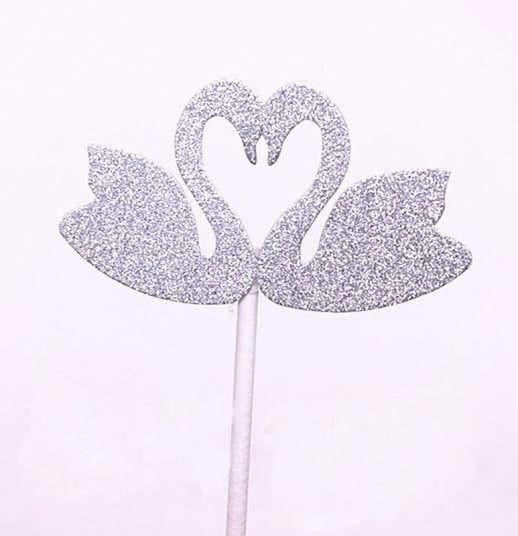 Glitter Bride Groom Mr Mrs Hollow Cake Topper | Bridelily - style 19 - cake toppers