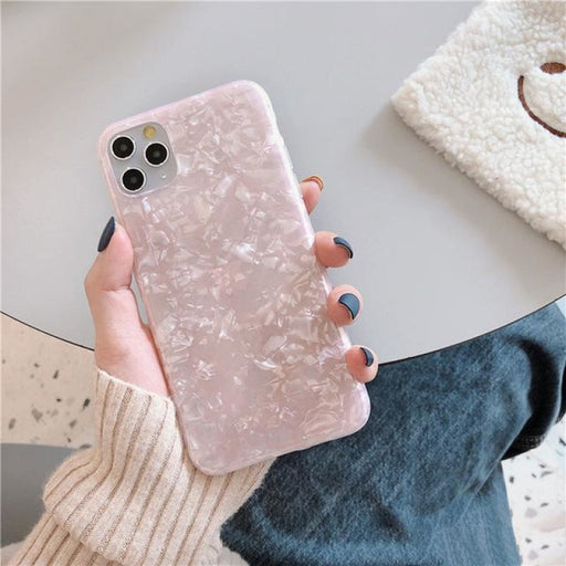 Glitter Dream Shell Pattern Case For iPhone - For iPhone 7 or 8 / Pink