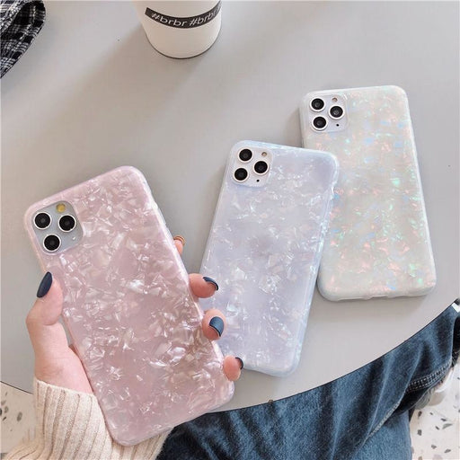 Glitter Dream Shell Pattern Case For iPhone