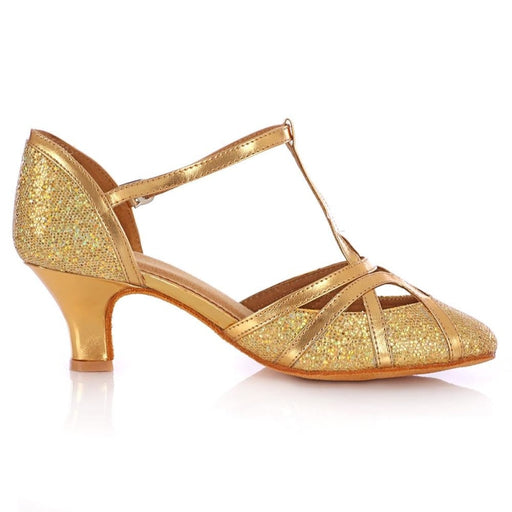 Glitter Lace Up Square Heel Latin Dance Shoes | Bridelily - latin dance shoes