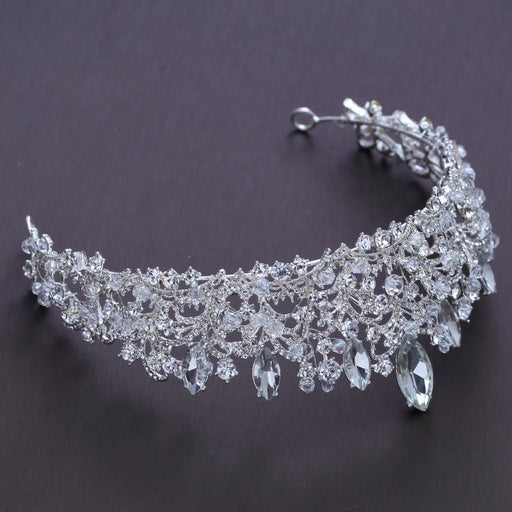 Gorgeous Big Crystal Beads Handmade Tiaras | Bridelily - tiaras