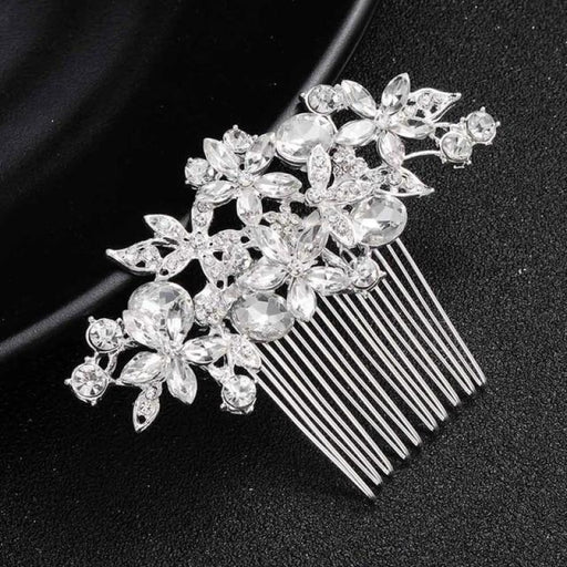 Gorgeous Crystal Handmade Womens Combs & Barrettes | Bridelily - Silver - combs and barrettes