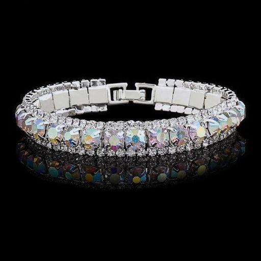 Gorgeous Crystal Silver Plated Wedding Bracelets | Bridelily - bracelets