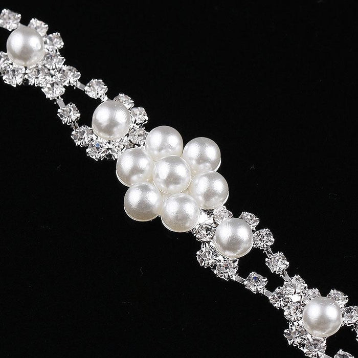 Gorgeous Pearl Flower Handmade Wedding Bracelets | Bridelily - bracelets