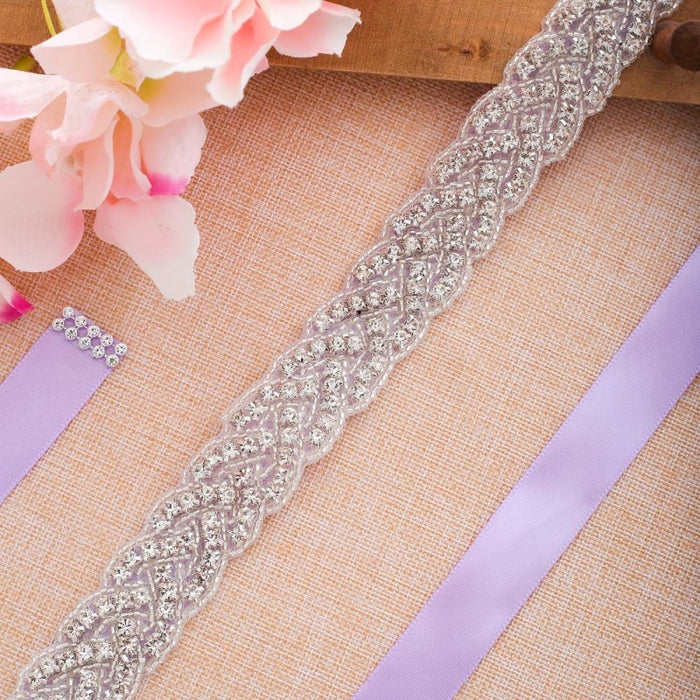 Gorgeous Rhinestones Handmade Wedding Sashes | Bridelily - wedding sashes