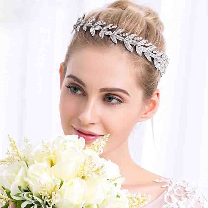 Gorgeous Silver Crystal Womens Headbands | Bridelily - headbands