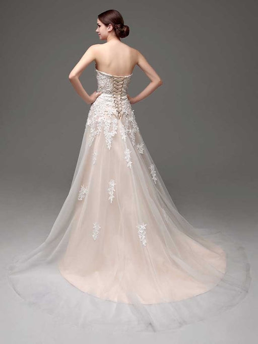 Gorgeous Swetheart Sleeveless Tulle Wedding Dresses - wedding dresses