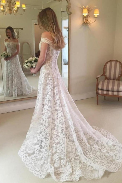 Graceful Boho Chic Lace Mermaid Wedding Dress - Wedding Dresses