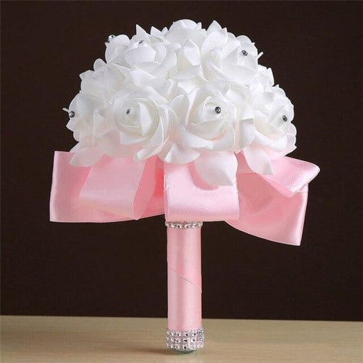 Handmade Artificial Flower Wedding Bouquet | Bridelily - Pink - wedding flowers