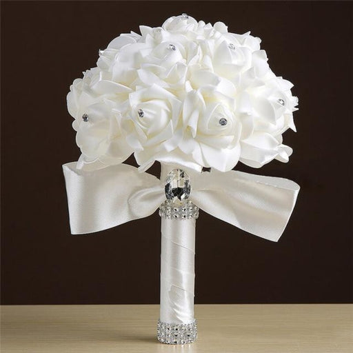Handmade Artificial Flower Wedding Bouquet | Bridelily - ivory - wedding flowers