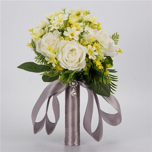 Handmade Artificial Flowers Wedding Bouquets | Bridelily - white - wedding flowers