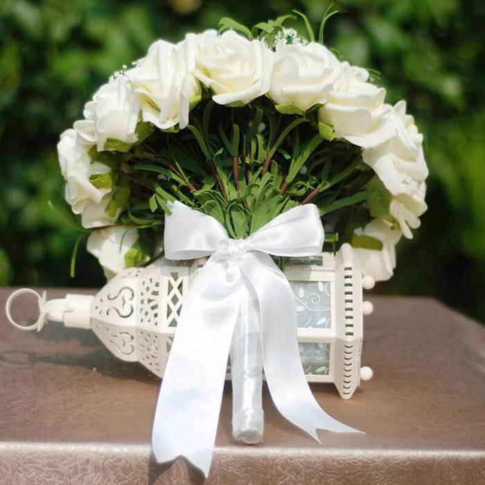Handmade Artificial Ivory Wedding Bouquets | Bridelily - wedding flowers