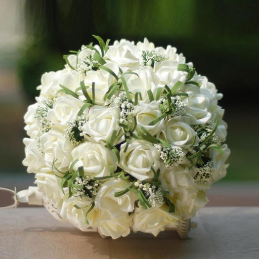 Handmade Artificial Ivory Wedding Bouquets | Bridelily - Ivory - wedding flowers