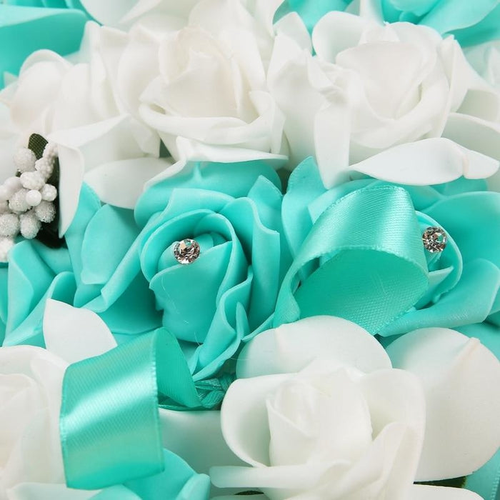 Handmade Ribbon Rose Flower Wedding Bouquets | Bridelily - wedding flowers