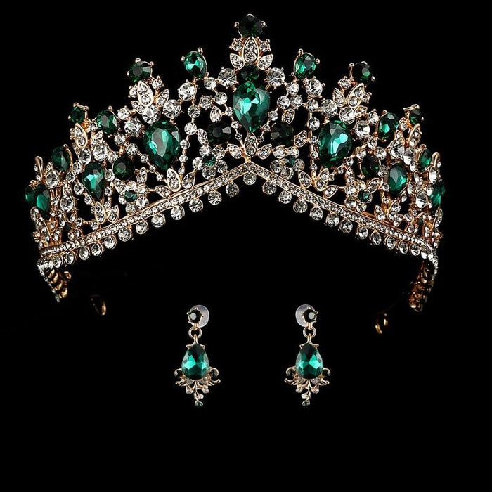 Headband Princess Hair Jewelry Womens Tiaras | Bridelily - green - tiaras