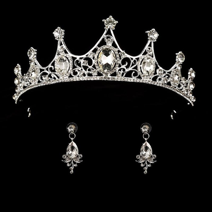 Headband Princess Hair Jewelry Womens Tiaras | Bridelily - white - tiaras