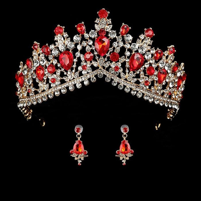 Headband Princess Hair Jewelry Womens Tiaras | Bridelily - red - tiaras