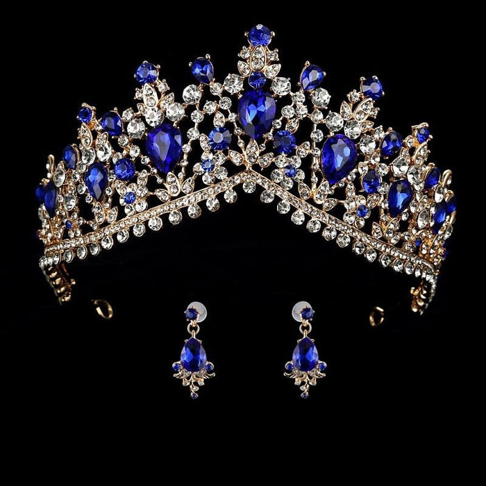 Headband Princess Hair Jewelry Womens Tiaras | Bridelily - blue - tiaras